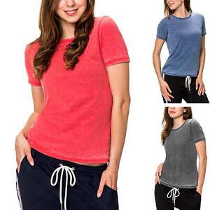 Only Damen T-Shirt Basic Shirt Casual Kurzarmshirt Damenshirt Feizeitshirt SALE