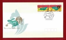 1999 Christmas Island Year of the Rabbit SG 466/7 FDC
