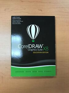 CorelDraw Graphics Suite X8 New for Windows 7 and/or 10 Full Retail Version