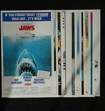 "1981 Topps Giant Pin-Up 12"" x 20"" Movie Posters - Jaws + 11 other titles (12 pc)"