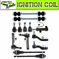 For Chevy GMC Sierra 1500 4x4 13Pcs New Front Ball Joints Tie Rod Idler Arm  Kit