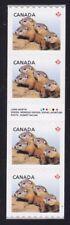 Canada 2604i Strip of 4 with inscription (Woodchucks)