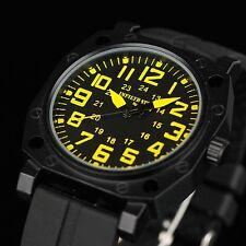 INFANTRY INFILTRATOR Mens Quartz Analog Wrist Watch Black Rubber Sport Military