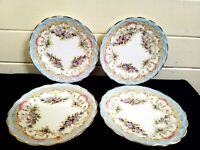 Queens china G&W sons England vintage 4 plates.