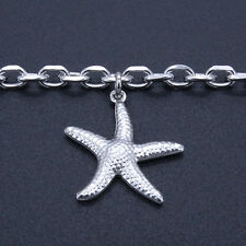 Stainless Steel Anklets Starfish Charm Ankle Bracelet 9-11 Inches SSA155