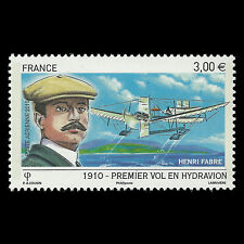 France 2010 - First Flight by Seaplane by Henri Fabre Aviation - Sc C72 MNH