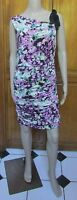 Jessica Simpson FUS Multi-Color One Shoulder Ribbon Dress NWT Sz 6 MSRP $128