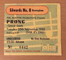 1990 PRONG FAITH NO MORE L7 BIRMINGHAM CONCERT TICKET STUB BEG TO DIFFER TOUR