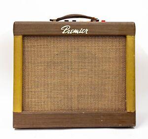 """1960s Multivox Premier 120 2 Channel 1x12"""" Guitar Combo Amp with Tremolo"""