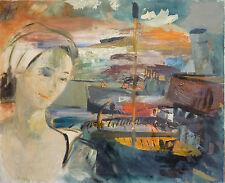 Claude TAILLANT (1911-1965) HsT Années 60 Jeune Peinture Nle Ecole de Paris