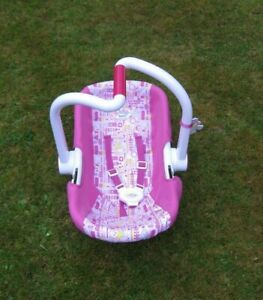 Pink Zapf Creation Baby Born Doll Car Seat