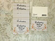 """"""" THANKSGIVING Blessing to You""""... Pass it Along Cards NEW pkg 25 pc 3x2"""" #852"""