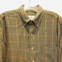 VIYELLA Large Mens Check Plaid Shirt Wool Blend Long Sleeves Made in Hong Kong