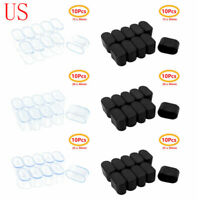 10 Oval Rubber Furniture Foot Table Chair Leg End Caps Covers Tips Floor Protect