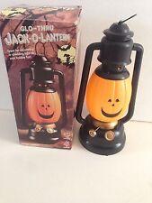 Vintage Halloween Glo- Thru Jack O Lantern Battery Operated