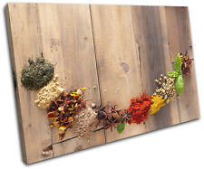Spices Indian Food Kitchen SINGLE TOILE murale ART Photo Print