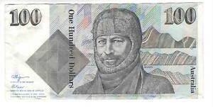 AUSTRALIA $100 Dollars VF/XF Banknote 1990 P-48c Fraser-Higgins Sign Prefix ZGG