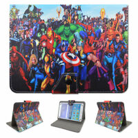 """Kids Cartoon Universal Leather Stand Flip Folio Case Cover For 7""""/8""""/10"""" Tablets"""