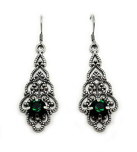 Gothic Victorian Earrings Bridal Wedding Medieval Renaissance Steampunk Jewelry