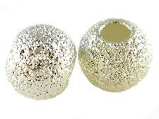 925er Sterling Silber - Glitzer - Kugel. Perlen. Spacer. Stardust. 4mm. 6 Stück