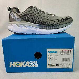 HOKA One One Clifton 4 Men's Running Shoes Gray Size 10