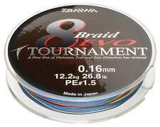 Daiwa Tournament 8 Braid Evo 0,12mm 8,6kg 300m Multi Colour Geflochtene Schnur