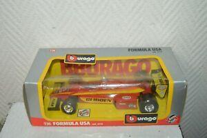 VOITURE BURAGO GRAND PRIX FORMULA USA 6110 DIE-CAST NEUF BOITE 1/24  CAR