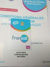 CARTE FRANSAT HD PC 6 Nouvelle Génération neuve valable 4 ANS