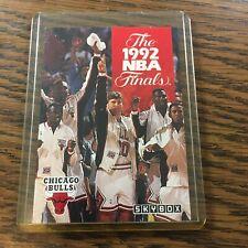 1992-93  MICHAEL JORDAN Skybox CHICAGO BULLS NBA FINALS Basketball # 318 H98