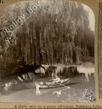 Stereoview Boating at Boksburg Lake South Africa. More 3D Stereo Cards Listed