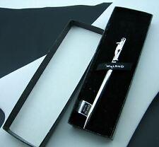 Robert Wyland rare 925 Sterling Silver sleek Dolphin Ballpoint Pen original Box