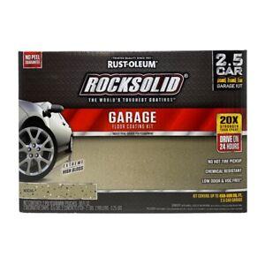 Rust-Oleum Rocksolid 2.5 Car Garage Floor Coating High Gloss Mocha 180 oz