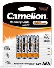 10 x Camelion AAA Mirco HR03 600mAh Blister Telefon NiMH Akku Accu 1,2 V