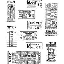 Tim Holtz Cling Stamps - Ticket Booth CMS 337