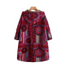 Women's Casual Vintage Coats Hoodies Hooded Winter Warm Fleece Plus Size Jackets