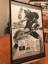 "BIG 11X17 FRAMED TED NUGENT & ""FREE FOR ALL"" LP ALBUM CD PROMO AD w/ TOUR DATES!"