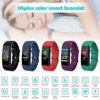 Heart Rate Bluetooth Smart Watch Blood Pressure Monitor Fitness Tracker Bracelet
