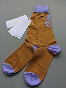 Marni - Mid Calf Socks - Cotton - Sienna Brown