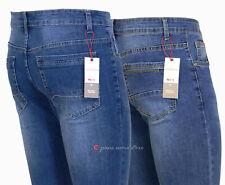 New Jeans uomo Slim pantalone cotone denim gamba stretta vita bassa tg 44 a 54