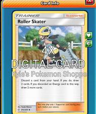 Roller Skater 4X Pokemon TCG Online PTCGO FAST 203/236