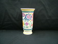 Vintage Poole Pottery vase with falred top
