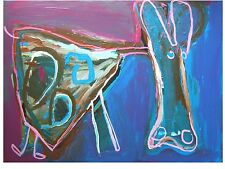 Originale künstlerische Malereien im Kubismus-Stil direkt vom Künstler