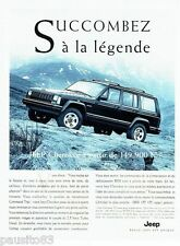 PUBLICITE ADVERTISING 116  1996   La Jeep Cherokee command-trac TD
