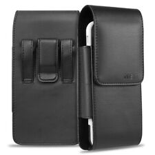 Vertical Leather Carring Pouch Case Cover Belt Clip Holster For Large Phones US