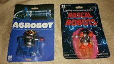 "1978 Tomy ""Rascal Robots"" wind-up MOC Robot 2"" tall & 1978 Acrobot Unopened Fine"