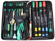 PROFESSIONAL PC Tool Kit with 40W Soldering Iron & Case COMPUTER REPAIR TOOLS
