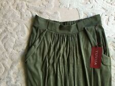 New WT YUVITA Long Viscose Dark Green Skirt Size L