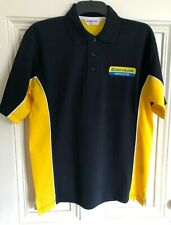 New Holland Tractor Embroidered Contrast Polo Shirt - Small to 3XL
