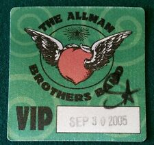 The Allman Brothers Band Backstage Pass Silk Vip 2005 Unused original!