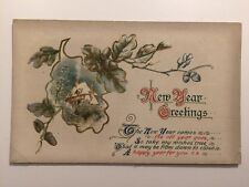 Vintage Postcard - Wildt & Kray (W&K) #3109 - New Years Greetings - Posted 1914